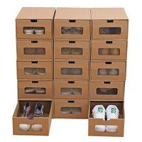 Zapatos de papel cajón tipo caja de almacenaje de la mujer del hombre del espesamiento Papeles calidad de los zapatos Almacenajes Cajas hombres de las mujeres del caso del organizador VT1983