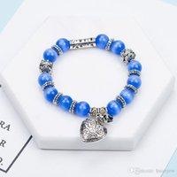 Pulseras bastante romántica de época para las pulseras con los granos cristalinos caben las pulseras Pan joyería