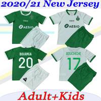 Adulto e Crianças kit 2020 2021 AS Saints-Etienne Futebol Khazri mens Maillot 20 21 ASSE ST Etienne Khazri define AHOLOU camisas de futebol