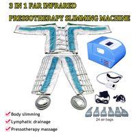 Aria di compressione massaggio la circolazione delle gambe infrarossi pressoterapia drenaggio linfatico corpo massaggiatore pressione dell'aria disintossicazione macchina di dimagrimento a raggi infrarossi
