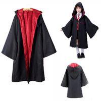 Vestiti per bambini Cosplay costume con cappuccio con cappuccio con cravatte bambino adulto adulto unisex costume per bambini abbigliamento magico accappatoio