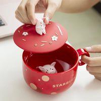 Die 350ml Schwein Starbucks Cups Keramik Niedliche kleine Schwein Kaffee Becher 2019 Neue Jahre Chinesische Zodiac Little Pig Cup für Geschenk
