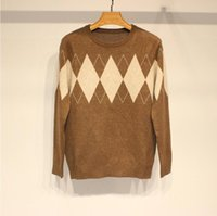 2020 Mens Autumn Sweater O-Neck Mens Sweter Cotton Casual roupas de malha Formal blusas manga comprida