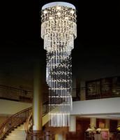 K9 Kristal Avize Modern Gömme Montaj Kristal Işık Spiral Merdiven Lüks Asma Fikstür Kristal tavan lambaları led