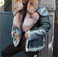 Casacos de inverno Moda Casual manga comprida lapela pescoço Coats Luxo sólido Mens cor quente Outwear Mens Designer Grosso