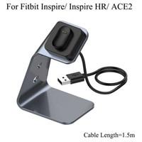 Für Fitbit Inspire HR ACE2 Aluminiumlegierung Ladeständer mit Chipschutz Schnellladegerät ACE 2 Magnetische Dockstation 1.5m Kabel