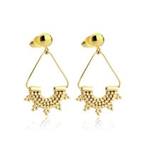 Volo triangolo tallone punto pendenti orecchini oro orecchini color oro orecchini per le donne orecchino gioielli moda brinco feminino