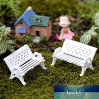 3 PZ Carino Mini Banco Bianco Ballo Fairy Sedie Bambola Terrarium Moss Decor Figurine Giardino Miniature Accessori Micro Paesaggio
