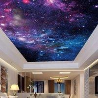 바탕 화면 사용자 정의 벽지 천장 스티커 벽화 3d 아름 다운 별이 빛나는 하늘 거실 침실 zenith 장식 벽 그림 예술