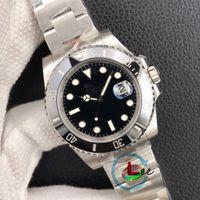 HOT N VSF ZZF GMF Factory Montres d'usine Hommes Sapphire Black Céramique Bezel en acier inoxydable 40mm 116610LV 116610LN Montre-bracelet mécanique automatique