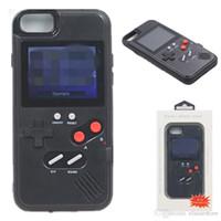 Mini Display a colori portatile 36 Classic Game Telefono Custodia per iPhone 12 12Pro 12Promax XSMAX XR 8 Plus Console Game Boy Soft TPU Cover Silicone