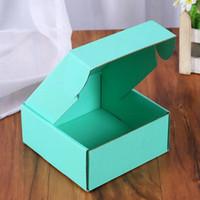 Scatole di carta ondulata confezione regalo colorato confezione pieghevole imballaggio quadrato imballaggio boxjewelry imballaggio scatole di cartone 15 * 15 * 5 cm