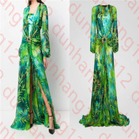 European and American autumn high-quality satin and gemstone decoration banquet dress