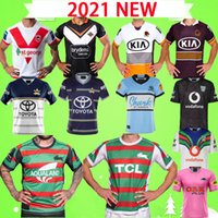 S-5XL 2020 새로운 럭비 유니폼 Broncos West Tiger Rabbit 카우보이 상어 기사 전사 Leopard League 셔츠 멀리 22 22 최고 품질