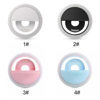 USB는 아이폰 삼성 HUAWEI + 소매를 위해 충전으로 패션 대 셀카 LED 링 라이트 PK-12 라이트 플래시 램프 카메라 사진