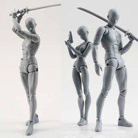 14cm Künstlerkunst Malerei Anime Figur SHF Skizze Zeichnen Männliche Weibliche Bewegungskörper Chan Gelenk Action Figure Spielzeug Modell Draw Mannequin T200117