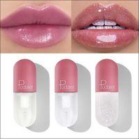 Shimmer lipgloss mini tubo hidrate claro mudança cor plumping labelo glitter lips maquiagem tonalidade cosmético