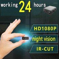 미니 카메라 카메라 가장 작은 1080P 풀 HD 캠코더 적외선 야간 투시경 마이크로 캠 움직임 감지 IR-CUT DV 지원 숨겨진 TF 카드 1