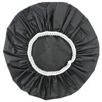 탄성 방수 샤워 모자 모자 재사용 가능한 목욕 머리 머리 덮개 살롱 샤워 캡 1