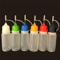 E-líquido Botella vacía 3ml 5ml 10ml 15ml 20ml 30ml 50ml botella de aguja para ego serie e cigarrillos botellas de gotero de plástico con puntas de metal