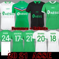 Maillot ASSE 2020 2021 As Etienne Soccer Jerseys 20 21 Hamouma Aouchiche Bouanga Le Co Co Co Co Co Coq Perrin Kid Kit Kit Compots