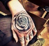 Dövmeler Su Geçirmez Tatto Geçici Tatouage Dövme Diş Yığın Sahte El Cadılar Bayramı Erkekler Tatoo Sticker Kafa Kafatası Dövmeler SQCIV için Geçici