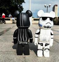 NOUVEAU 700% 52cm The Bearbrick Evase Colle Les célèbres personnages de film Noir et blanc Be @ rbrick Art Travail Modèle Décorations Cadeau