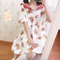 Themenkostüm Japanisches Kawaii Mädchen Süßes College Stil Navy Kragen Lolita Kleid Niedlich Drucken Viktorianische Gothic Op Loli Cos1