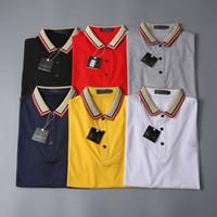 Moda Designer Polo Camisas Homens T-shirt de Manga Curta T-shirt Original Single Lapel Camisa Masculina Jaqueta Sportswear Movimentar-se o terno No.13S