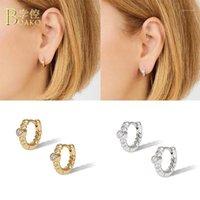 Boako 925 orecchini a cerchio argento sterling per le donne zircone orecchino piercing cartilagine cartilagine aretes orecchini di lusso s925 gioielli Pendere1