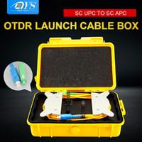 Attrezzatura a fibra ottica SC / UPC-SC / APC OTDR Zona morta Eliminator, scatola cavo di avvio, anelli in fibra SM 1310/1550 Nm Reflettometro