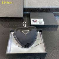 2021 Hot Designers Mini Corazón Monederos Monedas Monedas Monedas Mini Mini Carteras Mini Carteras Cambio de moda linda Bolsa con caja PD21020201