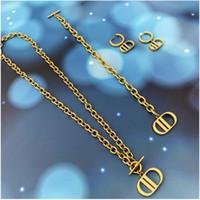 D Famille 2020 Nouvelle lettre d'or collier femme DIJIA NET RED HIGH VERSION Boucles d'oreilles
