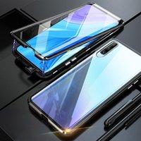 Магнитный чехол для Huawei Y9s чехол чехол четким двойной стороной закаленного стекла ударопрочный жесткий бампер для Huawei Y9 S Y9s Mobile H JLLMSB