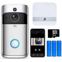 Kapı Zili V5 Video Kapı Zili Akıllı Kablosuz Wifi Güvenlik Kapı Çan Görsel Kayıt Ev Monitörü Gece Görüş İnterkom Telefon1