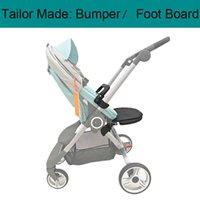 Tailor Made Leder Armlehne Frontstoßstange Extend Sitz Fußbrett und Moskitonetz Fußstütze für Stokke Scoot Kinderwagenzubehör 201022