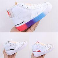 Çocuklar NK Blazers Orta İyi Bir Oyun Tasarımları Spor Ayakkabı Siyah Erkekler Min 77 Kid SB Yüksek Orta Kesim Snekaer İyi Bir Oyun İyi Bir Oyun Garips Eve Ayakkabı