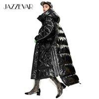 Jazzevar hiver Nouvelle Arrivée Femmes Down Down Veste Vêtements de dessus Qualité Vêtements Loisirs Style de mode Longue manteau d'hiver Femmes Y9047 201031