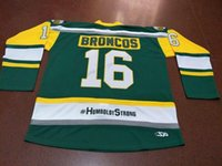 Cheap Custom Retro # 16 HUMBOLDT BRONCOS HUMBOLDT STRONG STRASCHNITZKI Hockey-Jersey-Männer Genähte irgendeine Größe S-5XL Name oder Nummer Top-Qualität