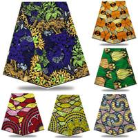 Elevata qualità 100% cotone africano stampe nigeriane angolando tessuto di cera angolante cera reale per il vestito da partito 6 yards NXS06 T200529