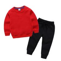 2020 Designer classico Boy Girl Girl Manica Lunga con cappuccio Pantaloni Sport Sport Bambini Fashion Bambini 2pcs in cotone set di abbigliamento