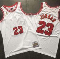 HommesChicagoTaureauxJerseys Michael Jordon Mitchell Ness Basketball Jerseys, maillot de basket à la retraite à la retraite