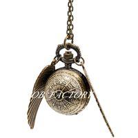 Neue Quarz Vintage Goldene Snith Pullover Kette Taschenuhr Halskette Mode Uhr Taschenuhr Bronze Farbe Stahl Lünette