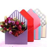 Regalo wrap creativo busta fold flower stoccaggio scatola di stoccaggio di matrimonio fidanzamento festa decorazione a pois a strisce stampate stampato imballaggio imballaggio