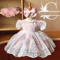 Girl's Dresses 2021Spanish Princess Jacquard Gauze Dress Fluffy Purple Pink Toddler Girl Kids For Girls Quality1