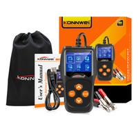 KONNWEI KW600 автомобиль 12V тестер аккумулятор 100 до 2000CCA 12 инструментов вольтовой батареи для автомобиля Быстрого Cranking зарядного Diagnostic