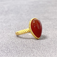 High Quality Rings Vintage Natural Stone Rings Fashion Costume Gemstone Female&Male Ring Jewelry With Box Free Shipping Wholesale With Box