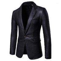 Männer Jacken Männer Stil Mode Selbstkultivierung und hellgesichtiger Anzug Pure Color Coat1