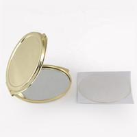 골드 금속 라운드 DIY를위한 수지 에폭시 스티커와 소형 거울 조각