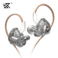 سماعات الرأس KZ EDX 1DD سماعات ديناميكية ايفي باس سماعات في الأذن مراقب الرياضة إلغاء الضوضاء سماعة zst x ed9 ed12 stm st1